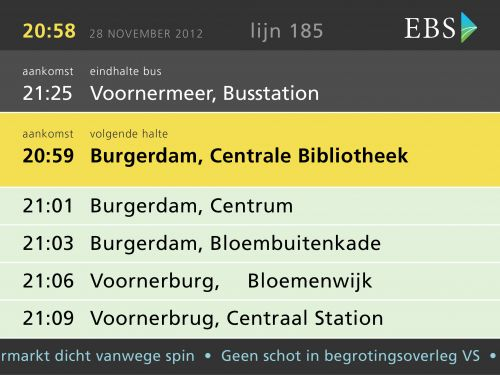 In-bus displays voor EBS